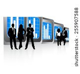 business people and graph | Shutterstock .eps vector #255907588