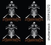 biker theme labels with... | Shutterstock .eps vector #255915172
