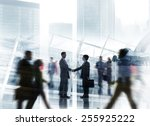 business people colleagues... | Shutterstock . vector #255925222