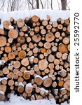 Stack Of Firewood Covered By...