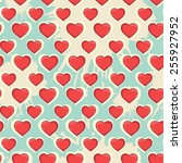 vector seamless pattern with... | Shutterstock .eps vector #255927952