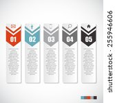 infographic templates for... | Shutterstock .eps vector #255946606