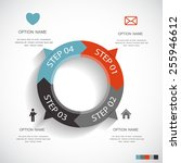 infographic templates for... | Shutterstock .eps vector #255946612