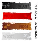 grunge colorful dog themed web... | Shutterstock .eps vector #255948142