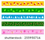 colorful christmas frame  ... | Shutterstock .eps vector #255950716