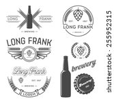 vector brewing labels and... | Shutterstock .eps vector #255952315