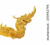 arts of buddhism   king of naga ...   Shutterstock . vector #255952795