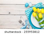 Easter Background With Yellow...