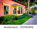 colorful shop at seaport...   Shutterstock . vector #255981898
