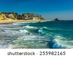 Waves In The Pacific Ocean At...