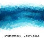 Blue White  Polygonal Mosaic...