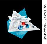 business abstract triangular... | Shutterstock .eps vector #255991156