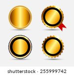 set of gold label template... | Shutterstock .eps vector #255999742