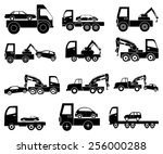 tow vehicles icons set | Shutterstock .eps vector #256000288