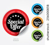 special offer sticker and tag... | Shutterstock .eps vector #256000858