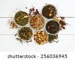 Assortment Of Dry Tea In Glass...