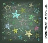 Set Of Hand Drawn Stars On The...