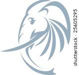 swish style elephant   Shutterstock .eps vector #25605295