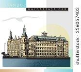 haydarpasa railway terminal in...   Shutterstock .eps vector #256057402