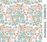 seamless floral pattern | Shutterstock .eps vector #256083172
