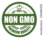 green non gmo premium quality... | Shutterstock . vector #256086202