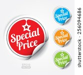 special price sticker and tag   ... | Shutterstock .eps vector #256094686