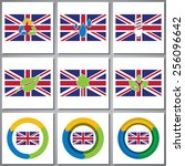 eco friendly marks and icons... | Shutterstock .eps vector #256096642