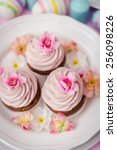 easter cupcakes | Shutterstock . vector #256098226