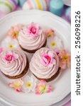 easter cupcakes | Shutterstock . vector #256098226