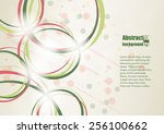 Abstract Background With Rings...