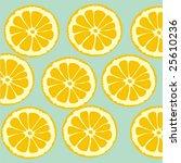 cutting lemon | Shutterstock .eps vector #25610236