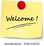 illustration of welcome yellow... | Shutterstock .eps vector #256114252