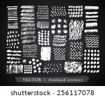 set creative freehand isolated...   Shutterstock .eps vector #256117078