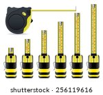 vector measure tape set | Shutterstock .eps vector #256119616