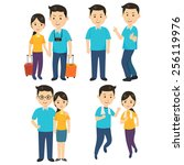 man and woman | Shutterstock .eps vector #256119976