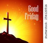 good friday. vector... | Shutterstock .eps vector #256120516