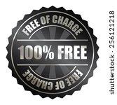 black metallic 100  free of... | Shutterstock . vector #256121218
