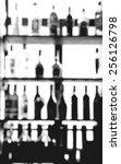 blurred alcohol bottles photo...   Shutterstock . vector #256126798