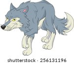 cute wolf cartoon   Shutterstock .eps vector #256131196