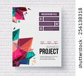 presentation brochure template... | Shutterstock .eps vector #256138318