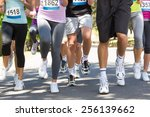 fit people running race in park ... | Shutterstock . vector #256139662