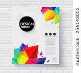 stylish business design... | Shutterstock .eps vector #256143052