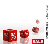 symbols of percent on falling... | Shutterstock .eps vector #25614313