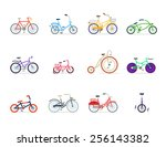 bicycles vector illustration  | Shutterstock .eps vector #256143382