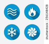 hvac icons. heating ...   Shutterstock .eps vector #256148428