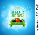 advertising poster for fresh... | Shutterstock .eps vector #256153012