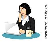 vector secretary illustration | Shutterstock .eps vector #256154926