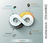 modern infographic option... | Shutterstock .eps vector #256164802