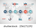 timeline vector infographic....   Shutterstock .eps vector #256171192