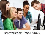 education concept   students... | Shutterstock . vector #256173022